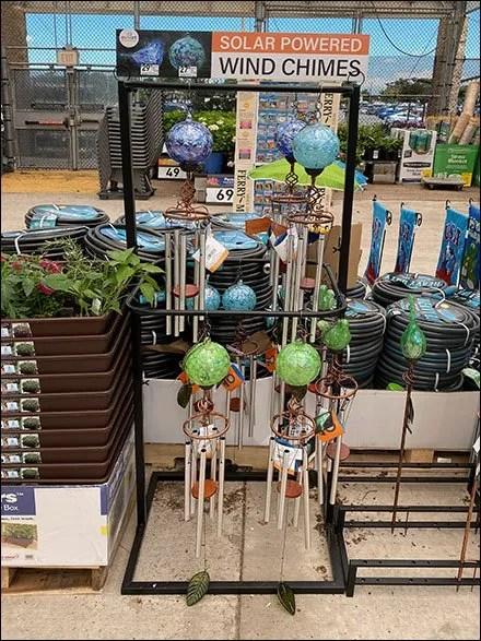 Solar-Powered Wind Chime Rack