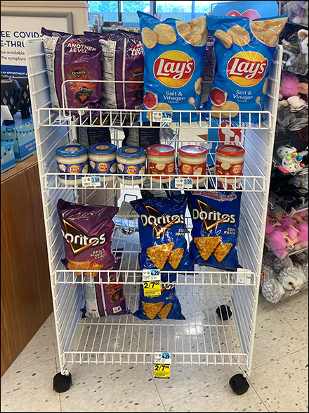 Lays Potato-Chip Open-Wire Mobile RackLays Potato-Chip Open-Wire Mobile Rack