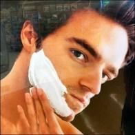 Shaving-Supplies Glass-Shelf Endcap Display