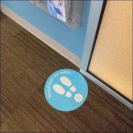 Solitary-Man Social-Distancing Floor Graphic