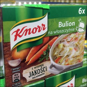 Knorr Ethnic-Polish Bouillon MerchandisingKnorr Ethnic-Polish Bouillon Merchandising