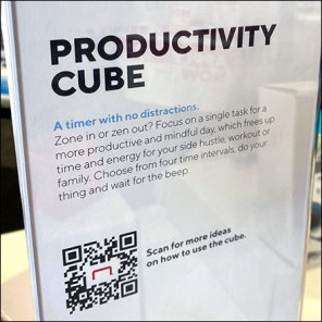 Staples-Connect Productivity Cube Display