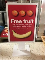 Kid's Free Fruit Table-Top Sign