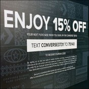 Converse In-Store Discount Text Promotion