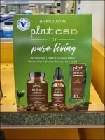 Vitamin-Shoppe Pure Living CBD Tent-Sign