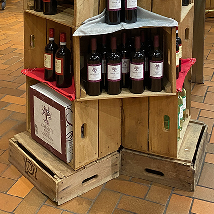 Hexagonal Wood-Crate Wine Tower Display