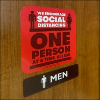 One-Person Restroom Social-Distancing Policy