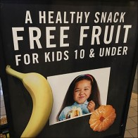 Free Fruit Freestanding Sign Offer