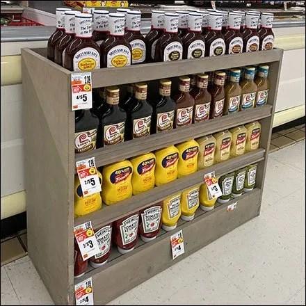 Half-Height Wooden Condiments Rack
