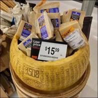 Hollow Parmesan Cheese Wheel Display