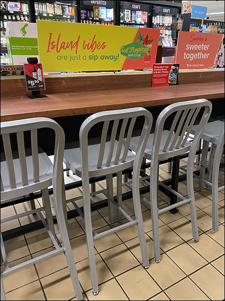 Island-Vibes Tropical Dining Counter Seating