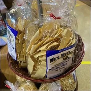 Mrs. Millers Egg Noodles Wicker Basket Rack