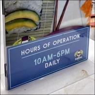 FujiSan Sushi Hours of Operation Redux