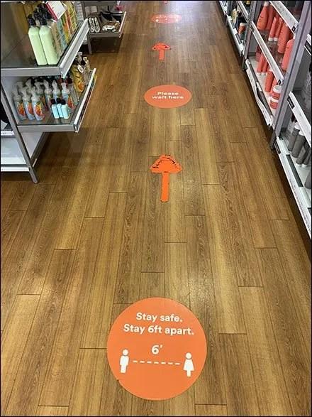 Ulta Stay-Safe Floor Graphic Breadcrumb-Trail