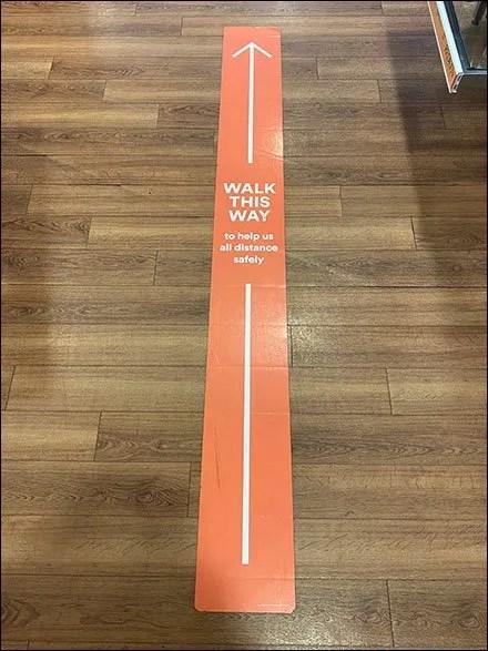 Ulta Walk-This-Way Straight-Line Floor Graphic