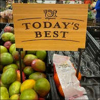 Today's Best Produce Destination Sign