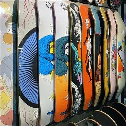 Zumiez Skateboard Back-Wall Slatwall Display