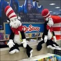 Barnes & Noble Cat-in-the-Hat Bookshelf Display