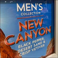 New Canyon Men's Collection Display