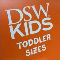DSW Toddler Sizes Departmental Definition