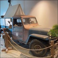 Vintage Expeditionary Willys Jeep Display
