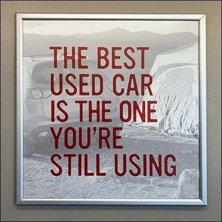 In-Store Branding Best Used Car Premise