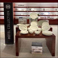 Macy's Hotel-Collection Dinnerware Display