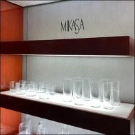 Macy's Mikasa Glassware Wall Display