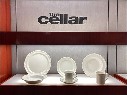 Macy's Cellar Tableware Wall Display