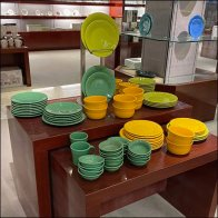 Macy's Trestle-Table Tableware Display