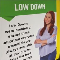 Down Low Pricing Freestanding Sign
