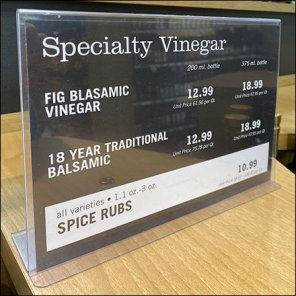 Market 32 Specialty Vinegar Table-Top Sign