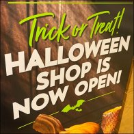 Trick-or-Treat Halloween Shop Sign