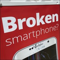 Broken Smartphone Out-Of-Home Ad