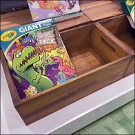 Crayola Antique Wood Stock Box