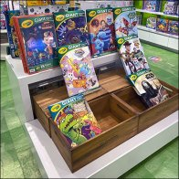 Crayola Giant Coloring Books Tiered Display