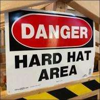 Playland Hard-Hat Area Sign