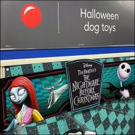 Disney Halloween Nightmare Dog Toy Endcap