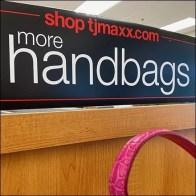 More Handbags Endcap Display at TJMaxx