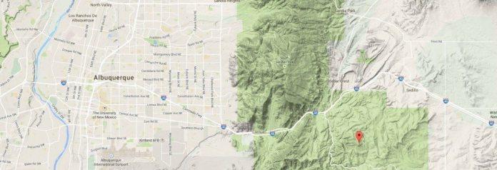 Cedro Peak Google Map