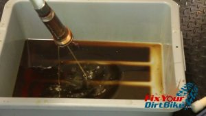 13 pump piston seveal times to evacuate internal oil