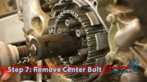 Step 7: Remove Center Bolt