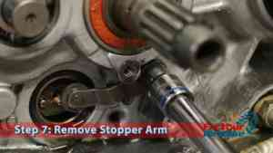 Step 7: Remove Stopper Arm