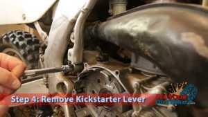 Step 4: Remove Kickstarter Lever