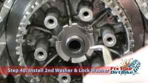 Step 40.1: Install 2nd Washer & Lock Washer