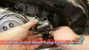 Step 55: Install Water Pump Cover