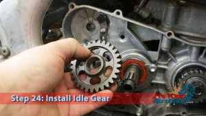 Step 24: Install Idle Gear
