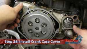 Step 28: Install Crank Case Cover