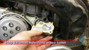 Step 29: Install Water Pump w/ New Gasket