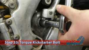 Step 33: Torque Kickstarter Bolt
